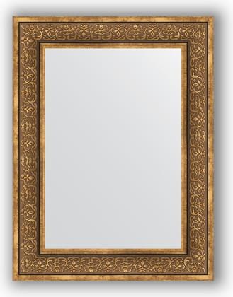 Зеркало в багетной раме 63x83см вензель бронзовый 101мм Evoform BY 3063