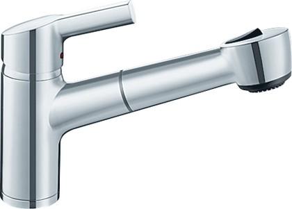 Классический кухонный однорычажный смеситель с выдвижным изливом, нержавеющая сталь Blanco ELIPSO-S II 514850