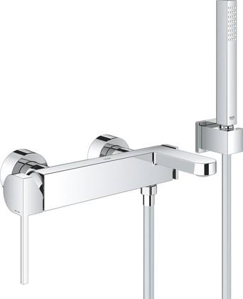 Смеситель для ванны Grohe Plus с душевым гарнитуром, хром 33547003