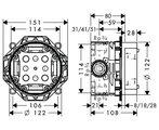 Скрытая часть встроенного смесителя для ванны с душем Hansgrohe iBox universal 01800180