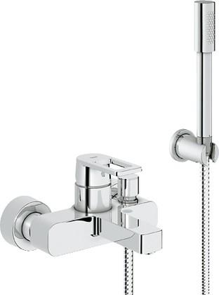 Смеситель однорычажный для ванны с изливом и душевым гарнитуром, хром Grohe QUADRA 32639000