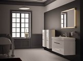 """Компания """"Верона"""" (Verona), коллекция мебели для ванной LUSSO, зеркало для ванной с подсветкой и сенсорным выключателем, встроенные светодиоды, ширина 110см, артикул LS708"""