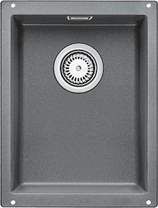 Кухонная мойка без крыла, с клапаном-автоматом, гранит, алюметаллик Blanco Subline 320-U 513407