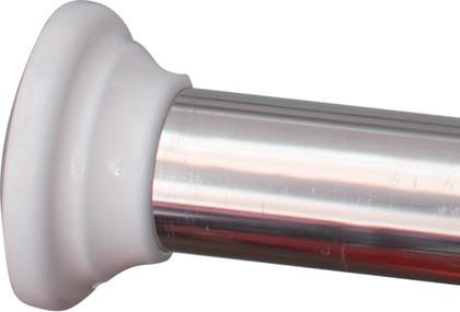 Телескопический карниз для шторы в ванную, хром, 75-125см Grund 319.00.199