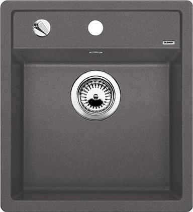 Кухонная мойка без крыла, с клапаном-автоматом, гранит, тёмная скала Blanco Dalago 45-F 518847