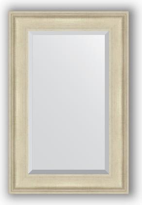 Зеркало 58x88см с фацетом 30мм в багетной раме травлёное серебро Evoform BY 1236