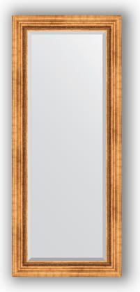 Зеркало с фацетом в багетной раме 61x146см римское золото 88мм Evoform BY 3542