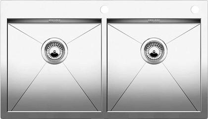 Кухонная мойка без крыла, с клапаном-автоматом, нержавеющая сталь зеркальной полировки Blanco Zerox 400/400-IF/A 513703