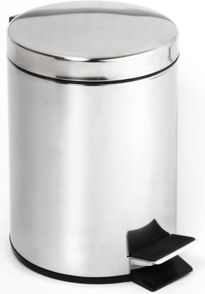 Ведро для мусора с педалью 5л хром Bemeta 104315012