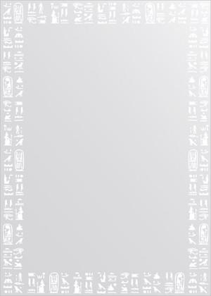 Зеркало для ванной с орнаментом 50x70см FBS CZ 0752
