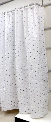Штора для ванны 180x200см текстильная белая Spirella PORTOFINO 1032221