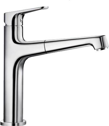 Смеситель кухонный однорычажный с высоким выдвижным изливом, хром Blanco FELISA-S 520336
