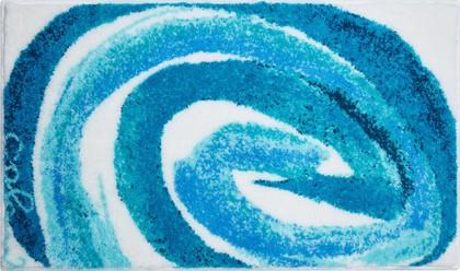 Коврик для ванной 70x120см голубой Grund Colani 42 2613.23.143
