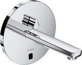 Смеситель для умывальника электронный с рычагом регулировки температуры и без встраиваемого механизма, хром Kludi ZENTA 3850105