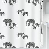 Штора для ванной Spirella Serengeti, 180x200см, тестиль, белый 1019148