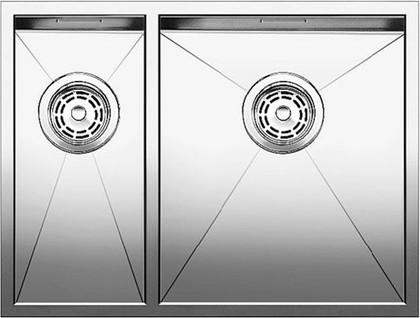 Кухонная мойка основная чаша справа, без крыла, нержавеющая сталь зеркальной полировки Blanco Zerox 340/180-U 517255