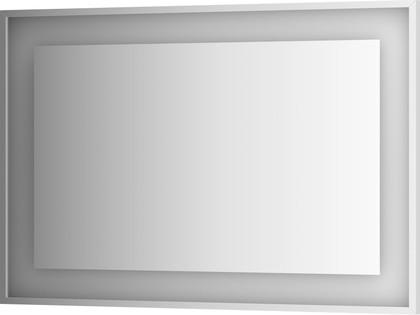Зеркало 110х75 в багетной раме со встроенным LED-светильником Evoform BY 2206