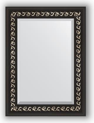Зеркало 55x75см с фацетом 30мм в багетной раме чёрный ардеко Evoform BY 1125
