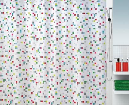 Штора для ванны 180x200см текстильная мультиколор Spirella TUTTIO 1016739