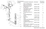Смеситель вентильный для раковины на 1 отверстие, хром Grohe SINFONIA 21014000