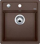 Кухонная мойка Blanco Dalago 45, без крыла, с клапаном-автоматом, гранит, кофе 517165