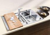 Кухонная мойка оборачиваемая с крылом, с клапаном-автоматом, нержавеющая сталь зеркальной полировки Blanco Classic PRO 5 S-IF 516849