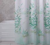 Штора для ванной Grund Canneto, 180x200см, полиэстер, зелёный 2164.98.006