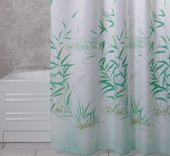 Штора для ванной, полиэстер 180x200см зелёная Grund Canneto 2164.98.006