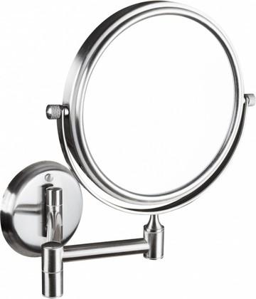 Косметическое зеркало без подсветки хром матовый d133 Bemeta 106301705