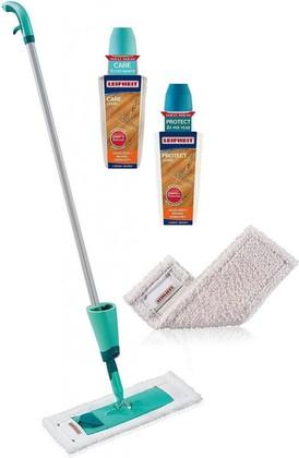 Швабра с распылителем Leifheit Care&Protect для ухода за паркетом и ламинатом, 2 картриджа 56498