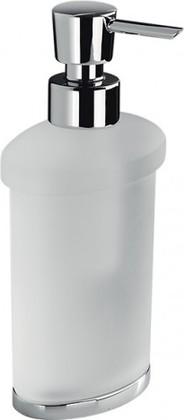 Ёмкость для жидкого мыла из матового стекла с настольной подставкой хром Colombo LAND B9319.000