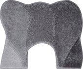 Коврик с вырезом под унитаз 60x50см серый Grund Curts 2570.06.001