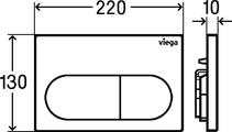 Смывная клавиша для унитаза Viega Prevista Visign for Life 6 двойной смыв, альпийский белый 773762