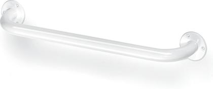 Поручень прямой белый 400мм, хром Bemeta 301100404