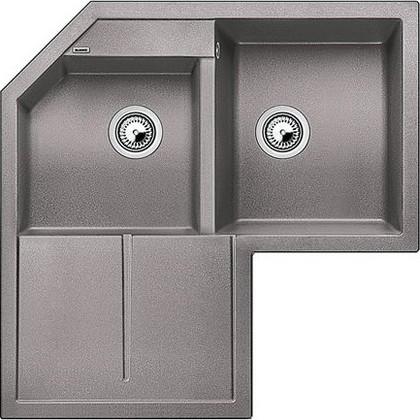 Кухонная мойка крыло слева, гранит, алюметаллик Blanco Metra 9 Е 515567