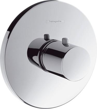 Наружная часть термостата для душа Highflow с цилиндрической рукояткой, хром Hansgrohe Ecostat S 15715000