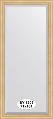 Зеркало 71x161см с фацетом 30мм в багетной раме сосна Evoform BY 1203