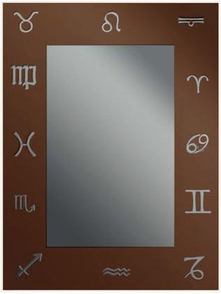 Зеркало 45x60см с декоративным коричневым принтом Dubiel Vitrum LUSTRO N8 5905241000138