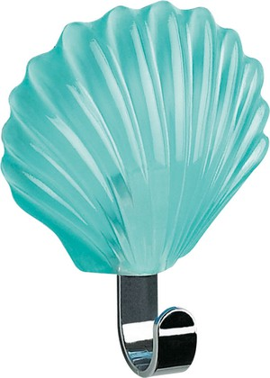 Крючок самоклеящийся зелёная мята Spirella Seashell 1000640
