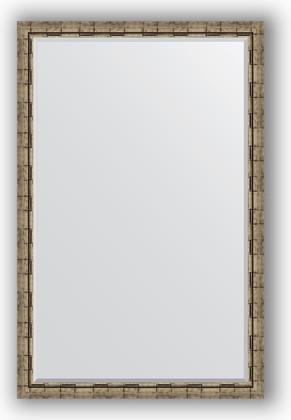 Зеркало 113x173см с фацетом 30мм в багетной раме старый бамбук Evoform BY 1216