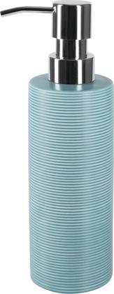 Ёмкость для жидкого мыла керамика, голубой Spirella Tube Ribbed 1018510