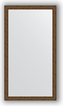 Зеркало в багетной раме 74x134см виньетка состаренная бронза 56мм Evoform BY 3297
