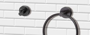 Туалетный ёршик Bemeta Dark настенный, латунь, чёрный 102313060