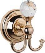 Крючок для ванной TW Crystal, золото с кристаллом swarovski TWCR016oro-sw