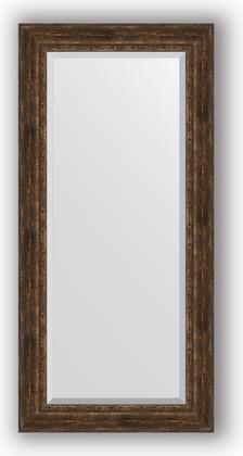 Зеркало с фацетом в багетной раме 82x172см состаренное дерево с орнаментом 120мм Evoform BY 3612