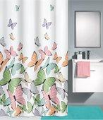 Шторка для ванной Kleine Wolke Butterflies Multicolor 180x200см, 100% полиэстер 5282148305