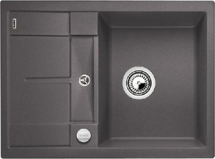 Кухонная мойка оборачиваемая с крылом, с клапаном-автоматом, гранит, тёмная скала Blanco Metra 45 S Compact 519573