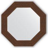 Зеркало Evoform Octagon 530x530 в багетной раме 70мм, мозаика античная медь BY 3739