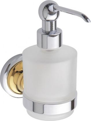 Дозатор для жидкого мыла Bemeta Retro настенный, стекло, золото-хром 144209108