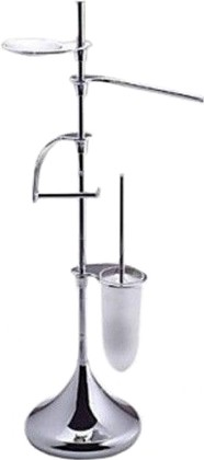 Стойка для туалета с аксессуарами из 4 предметов 900мм, хром Colombo KHALA B1839